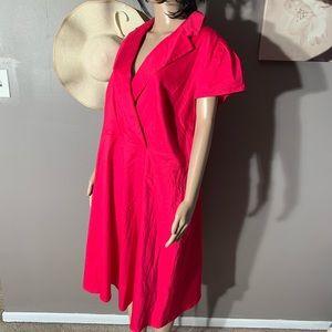 "Spense Woman Size 20W Hot Pink Dress Length 42"""